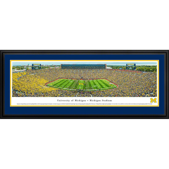 Blakeway University of Michigan Football Harbaugh's First Game Framed Panorama