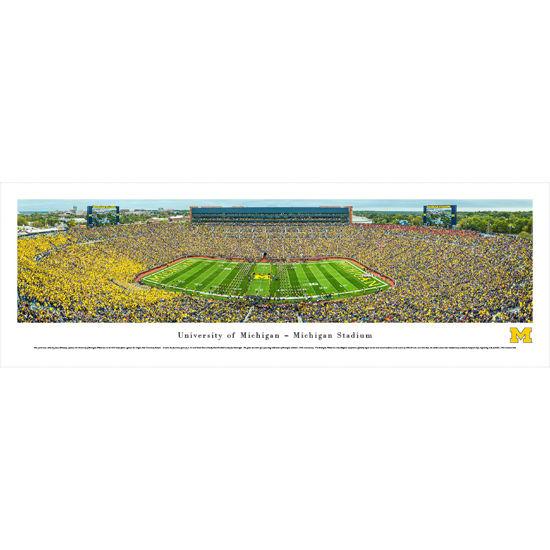 Blakeway University of Michigan Football Harbaugh's First Game Panoramic Poster