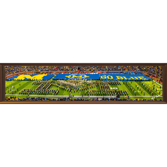 Dale Fisher University of Michigan ''Forever Valiant'' Michigan Marching Band Halftime Show Panoramic Canvas Photo