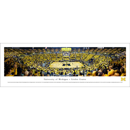 Blakeway University of Michigan Basketball vs. MSU 1989 National Championship 30th Anniversary Celebration Unframed Panoramic Poster