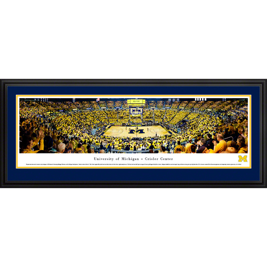 Blakeway University of Michigan Basketball vs. MSU 1989 National Championship 30th Anniversary Celebration Deluxe Framed (Double Mat) Panoramic Picture