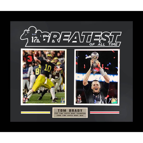 Second Story University of Michigan Football Tom Brady ''Greatest'' Framed Picture