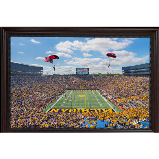 Dale Fisher University of Michigan Football vs. Army (9/7/19) Paratroopers Framed Canvas Photo