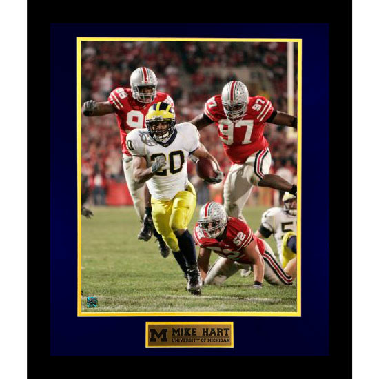 University of Michigan Football Mike Hart (vs. OSU) Framed Picture