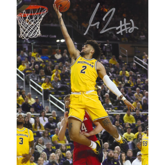 University of Michigan Basketball Isaiah Livers Autographed 8 x 10 Picture