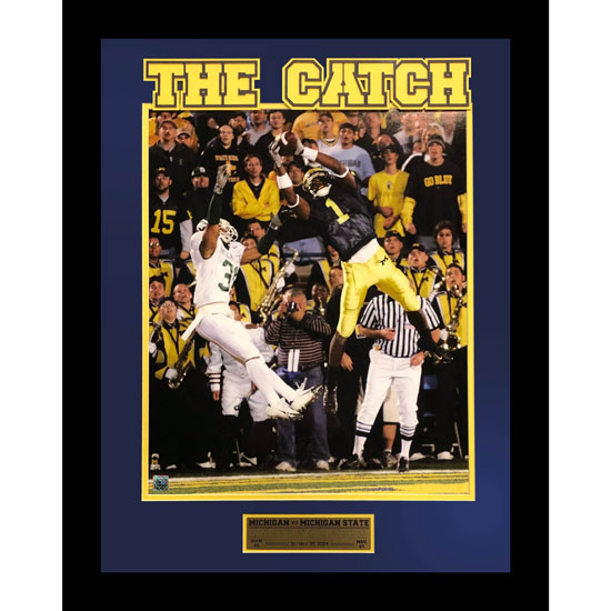 Second Story University of Michigan Football Braylon Edwards ''The Catch'' Framed Picture