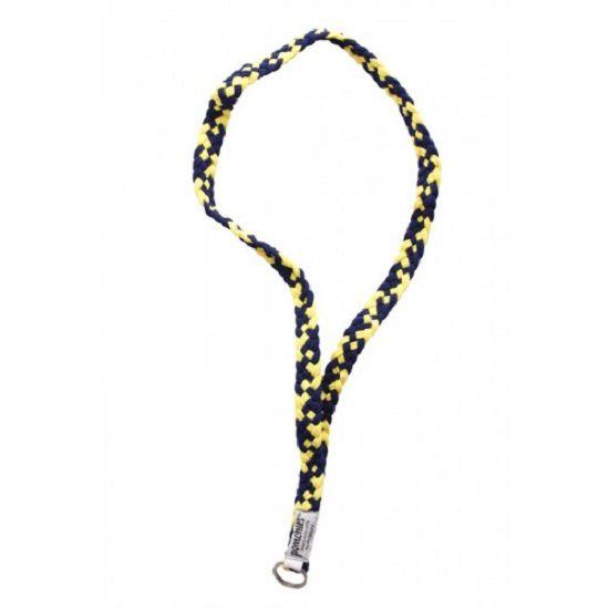 Pomchie University of Michigan Navy/ Yellow Braided Lanyard