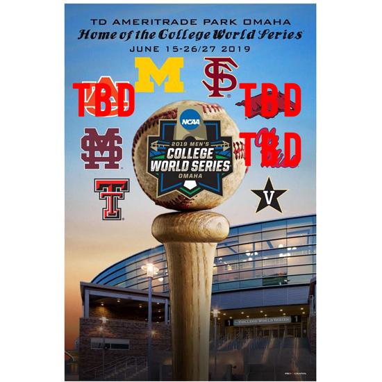 ProGraphs University of Michigan Baseball College World Series Poster