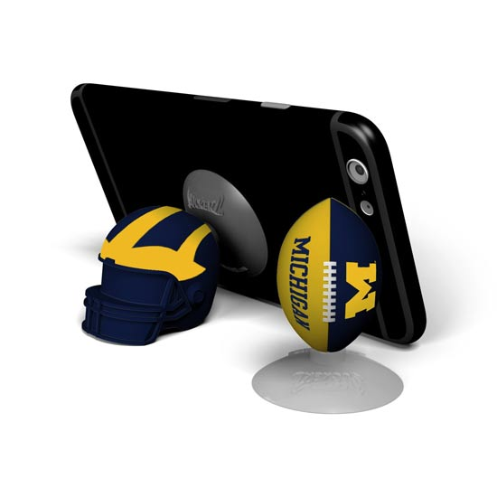 Prime Brands University of Michigan Football Sports Suckerz Phone Stand