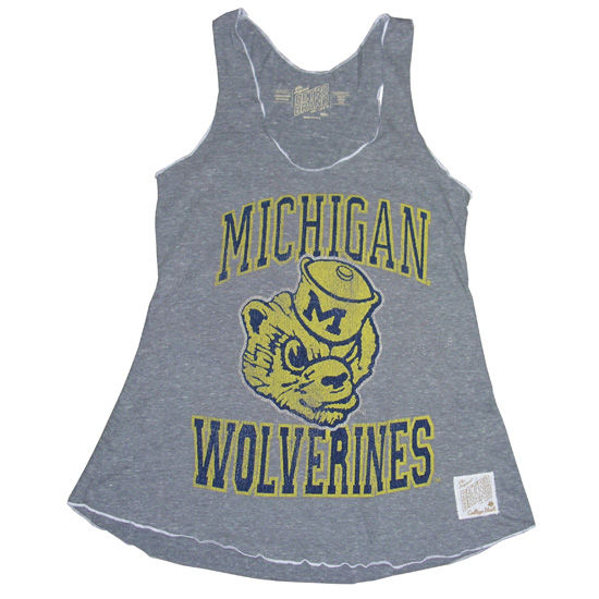 Retro Brand Unversity of Michigan Ladies Vault Wolverines Marrow Edge Tank Top