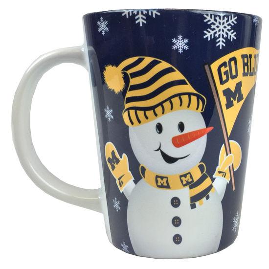 RFSJ University of Michigan Sublimated Snowman Latte Mug