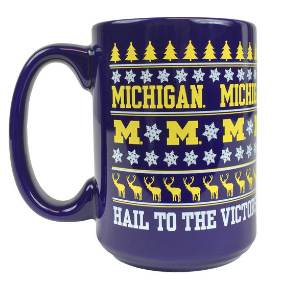 RFSJ University of Michigan Ugly Holiday Sweater Coffee Mug