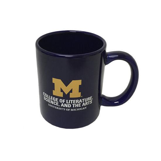 RFSJ University of Michigan L, S, & A Navy Coffee Mug