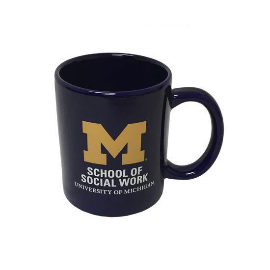 RFSJ University of Michigan School of Social Work Navy Coffee Mug
