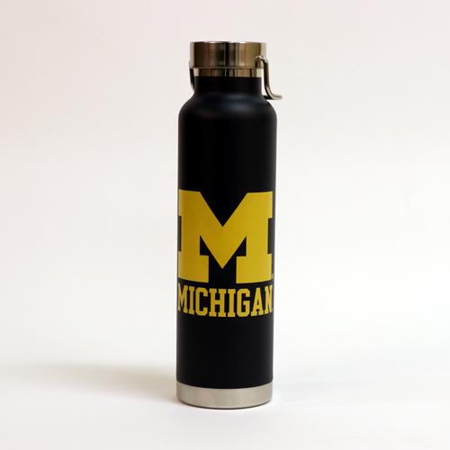RFSJ University of Michigan 22oz. Navy Powder Coated Water Bottle with Handle