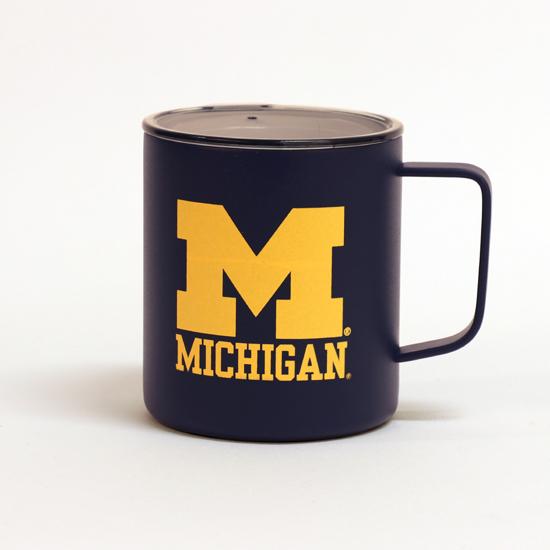 RFSJ University of Michigan Navy Vacuum Insulated Stainless Steel Camping Mug