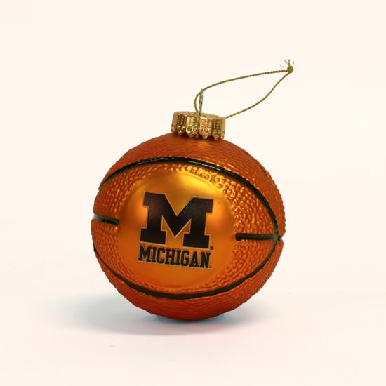 RFSJ University of Michigan Basketball Glass Bulb Ornament