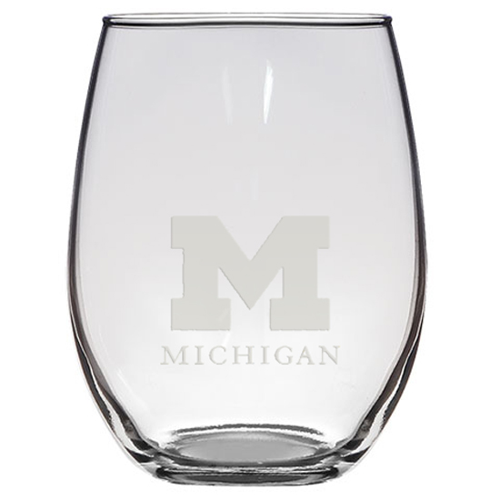RFSJ University of Michigan Stemless Red Wine Glass