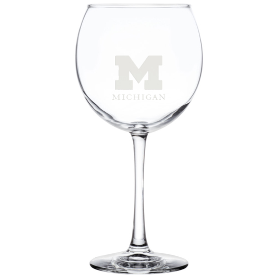 RFSJ University of Michigan Balloon Wine Glass