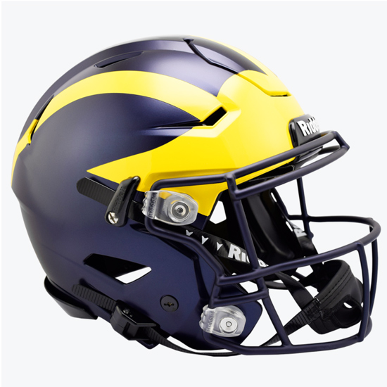 Riddell University of Michigan Football Authentic SpeedFlex Helmet
