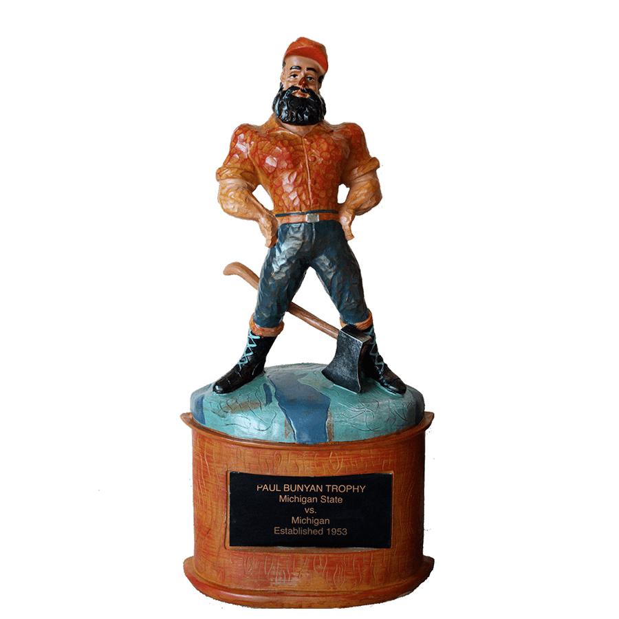 Rivalry Trophy University of Michigan Football Paul Bunyan Replica Trophy