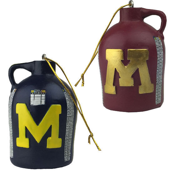 Rivalry Trophy University of Michigan Football Little Brown Jug Ornament