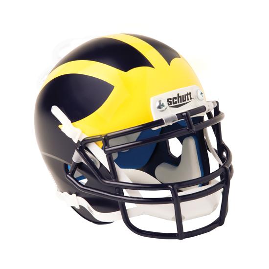 Schutt University of Michigan Football Mini Matte Helmet