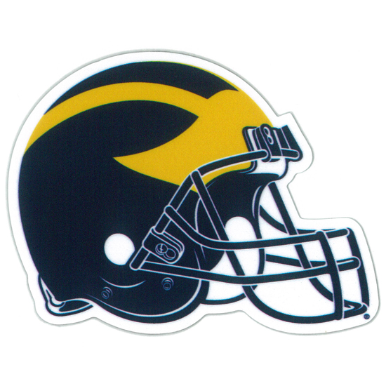 SDS University of Michigan Football Helmet 3'' Ultra Durable Dizzlers Decal