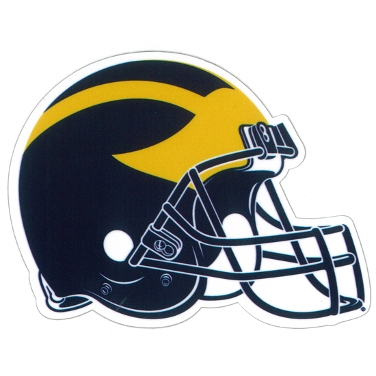SDS University of Michigan Football Helmet 5'' Ultra Durable Dizzlers Decal