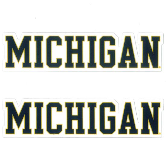 SDS University of Michigan 5'' Block ''Michigan'' Ultra Durable Dizzlers Decal
