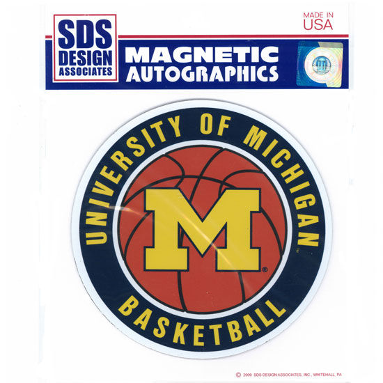 SDS University of Michigan Basketball 6 Car Magnet