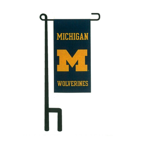 Sewing Concepts University of Michigan 4'' x 8'' Miniature Garden Banner with Pole Assembly