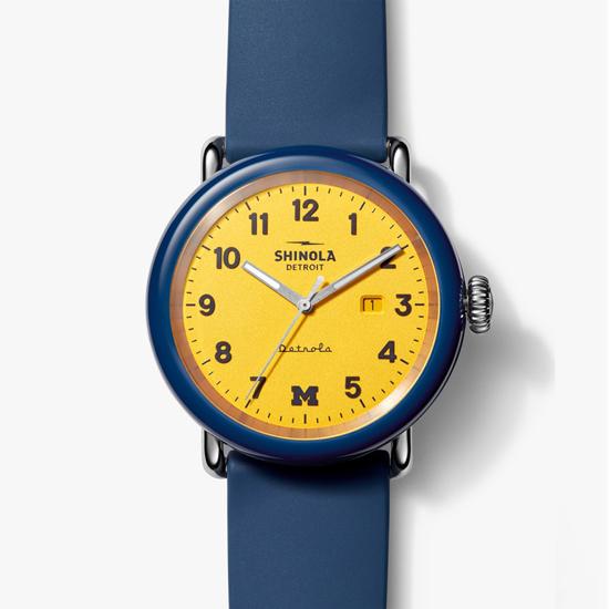 Shinola Detroit University of Michigan ''The Wolverine'' Detrola 43mm Watch