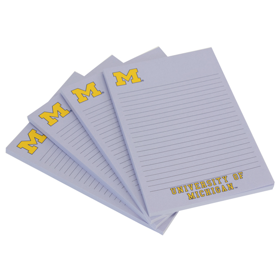 Spirit Products University of Michigan 4 Pack Post-It Sticky Note Pads