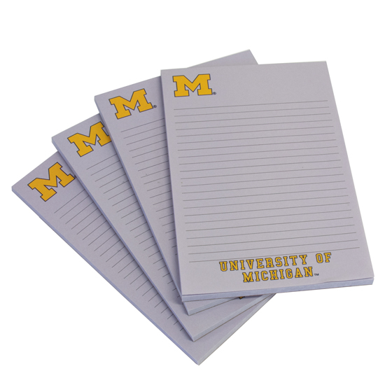 Spirit Products University of Michigan 3 Pack Note Pads
