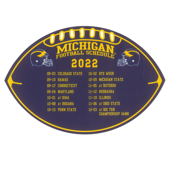 Spirit University of Michigan Football 2018 - 2019 Schedule Magnet
