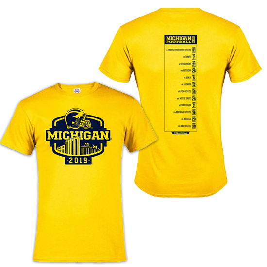 wholesale dealer e483a ec995 University of Michigan Football 2019 Season Tee