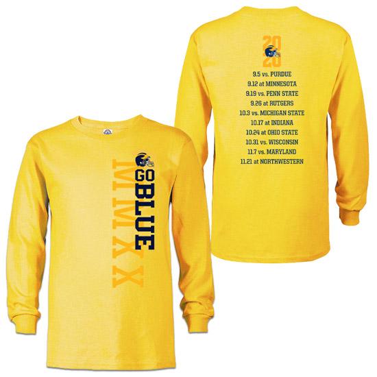 University of Michigan Football Long Sleeve 2020 Season Tee