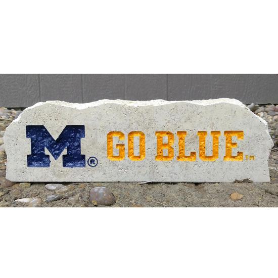 Stoneworx University of Michigan ''M Go Blue'' Porch Stone