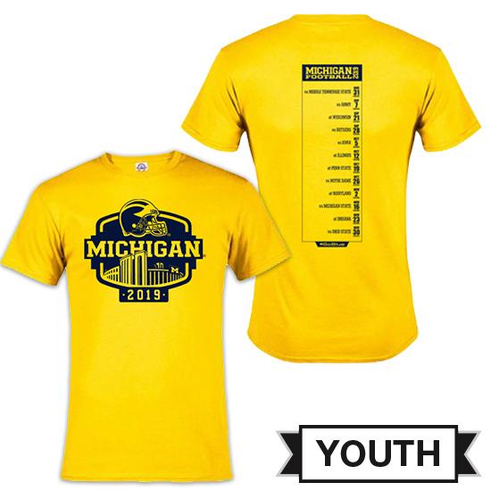 University of Michigan Football Youth 2019 Season Tee