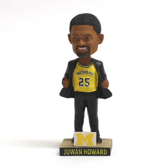 University of Michigan Basketball Coach Juwan Howard Bobblehead