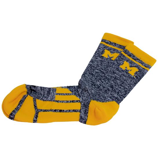 Twin City Knitting University of Michigan Heather Crew Socks