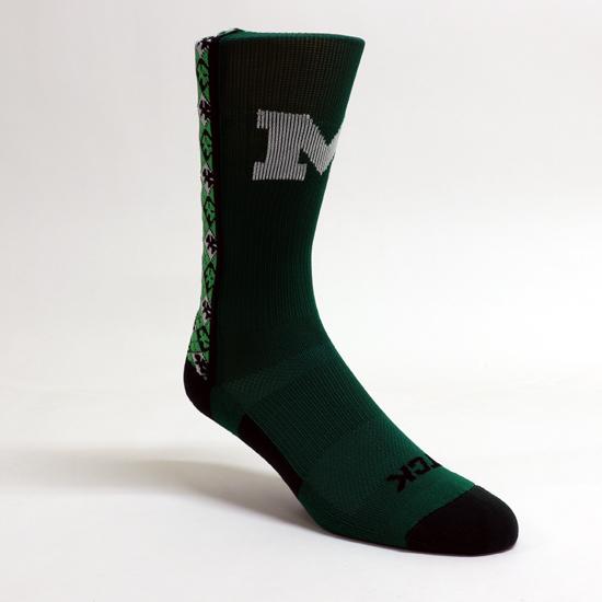TCK Sports University of Michigan St. Patrick's Day Crew Socks