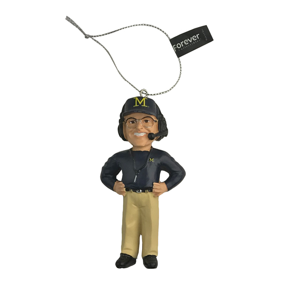 Forever Collectibles University of Michigan Jim Harbaugh Ornament