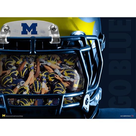 Team Spirit Store University of Michigan Football ''Reflection'' Poster