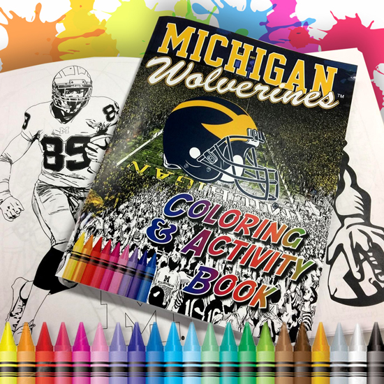 Team Spirit Store University of Michigan Coloring and Activity Book