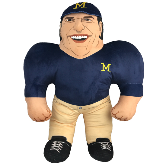 Forever Collectibles University of Michigan Football Jim Harbaugh Studds Plush Figure