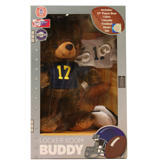 Forever Collectibles University of Michigan Locker Room Buddy Teddy Bear