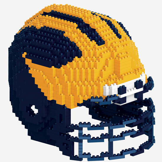 Forever Collectibles University of Michigan Football 3D BRXLZ Helmet