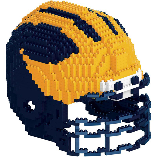 Forever Collectibles University of Michigan Football BRXLZ Large 3D Football Helmet Building Block Set
